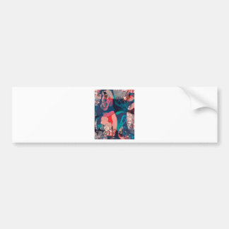 Abstract Marbled Bumper Sticker
