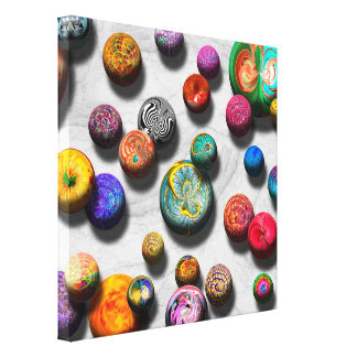 Abstract - Marbles Stretched Canvas Prints
