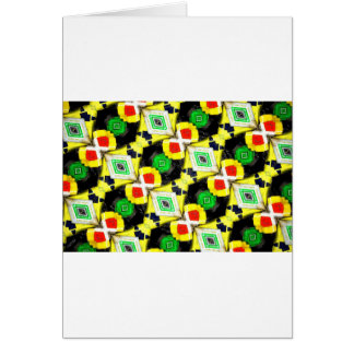 Abstract Markers Greeting Card