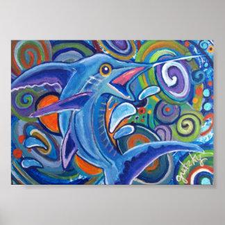Abstract Marlin Poster