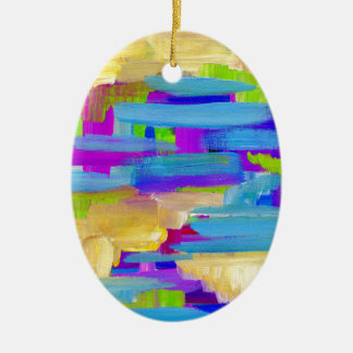 Abstract Marsh Ceramic Ornament