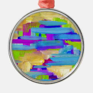 Abstract Marsh Metal Ornament