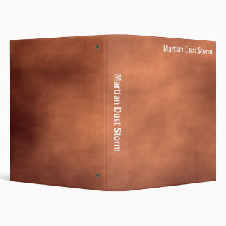 Abstract - Martian Dust Storm 3 Ring Binder