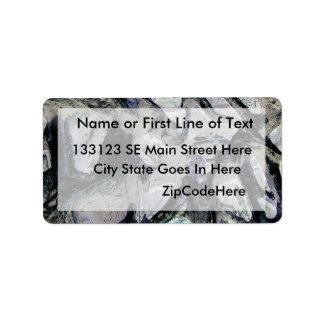 Abstract mason like background, customize it! address label