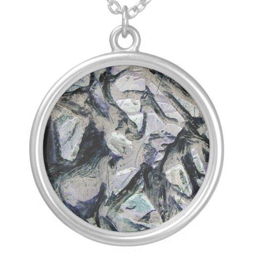 Abstract mason like background, customize it! round pendant necklace