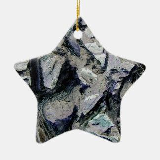 Abstract mason like background, customize it! christmas tree ornament