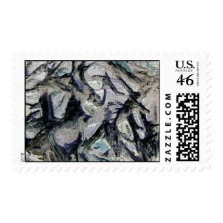Abstract mason like background, customize it! postage stamps