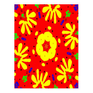 Abstract Matisse Style Shapes Postcard