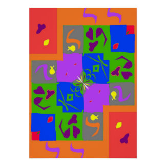 Abstract Matisse Style Shapes Poster