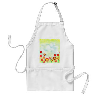 Abstract Meadow poster painting with finger tips Adult Apron