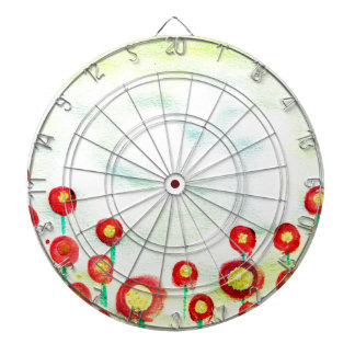 Abstract Meadow poster painting with finger tips Dartboards