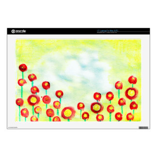 Abstract Meadow poster painting with finger tips Laptop Decals