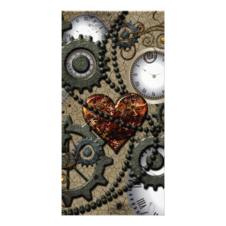 Abstract mechanical design photo card