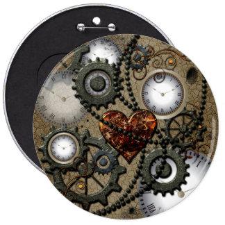 Abstract mechanical design pinback button