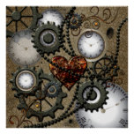 Abstract mechanical design poster