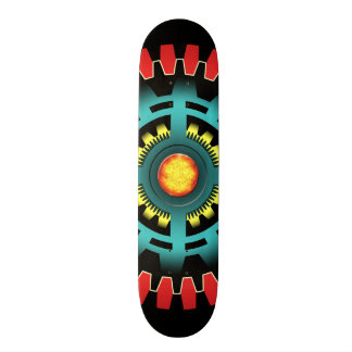 Abstract mechanical object skateboard