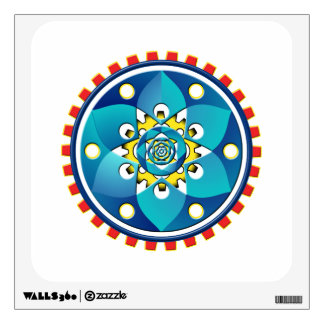 Abstract mechanical object wall decal