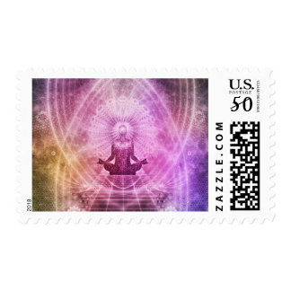Abstract Meditation Buddhist Style Postage