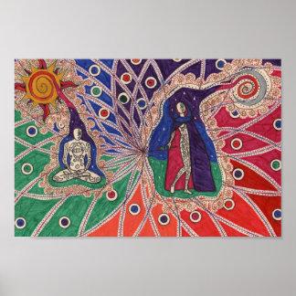 Abstract meditation poster