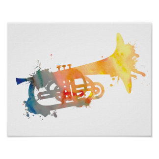 Abstract Mellophone Poster