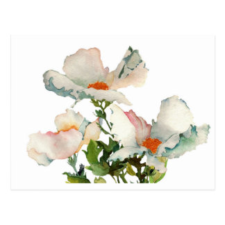 Abstract mellow flowers postcard