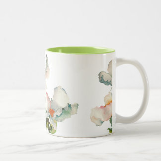 Abstract mellow flowers Two-Tone coffee mug