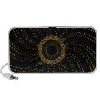 Abstract Melody flower Portable Speaker