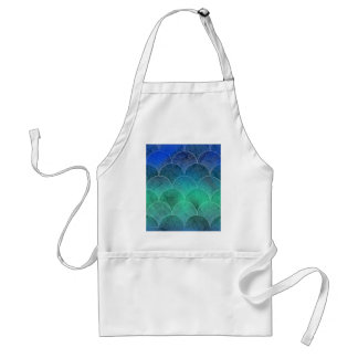 Abstract Mermaid Scales Adult Apron