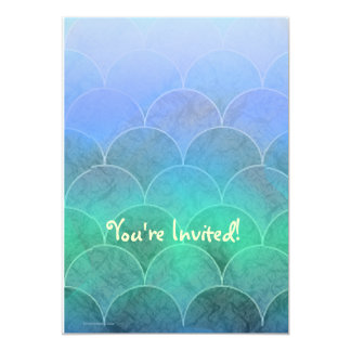 Abstract Mermaid Scales Light 5x7 Paper Invitation Card