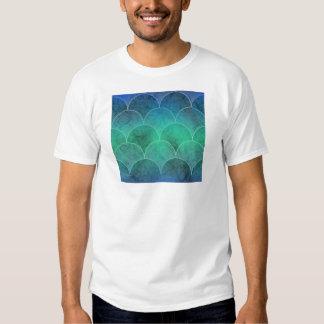 Abstract Mermaid Scales Tee Shirt
