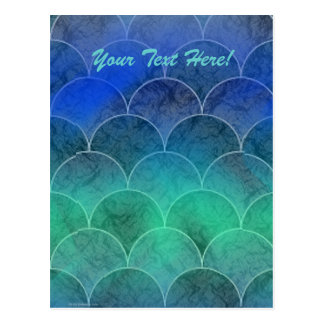 Abstract Mermaid Scales, Your Text Here! Postcards