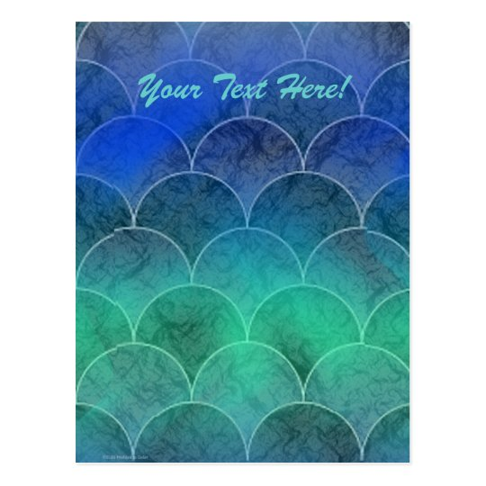 Abstract Mermaid Scales, Your Text Here! Postcard
