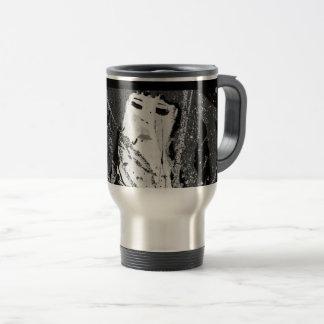 Abstract mermaid travel mug