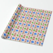 Abstract Merry Christmas Gift Wrap