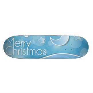 Abstract Merry Christmas Skateboard Deck