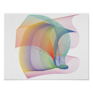 Abstract Mesh 8 Poster