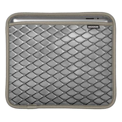 Abstract Metal Grid iPad Sleeve