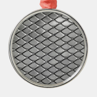 Abstract Metal Grid Ornaments