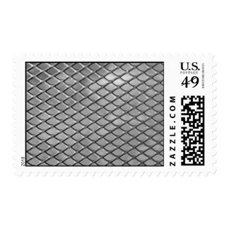 Abstract Metal Grid Postage Stamp