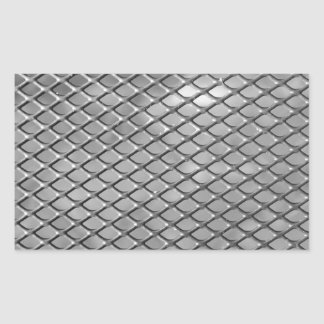 Abstract Metal Grid Rectangular Sticker