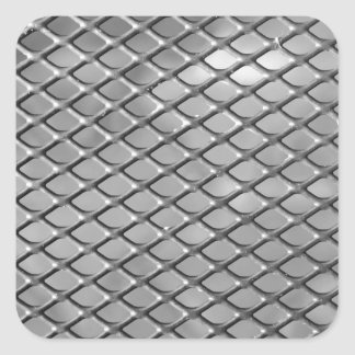 Abstract Metal Grid Square Sticker