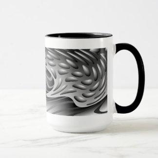 Abstract Metal Print Ringer Mug