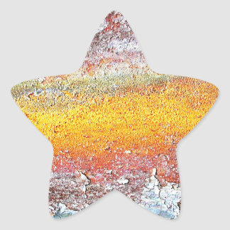 Abstract Metal Rusty Antique Junk Style Fashion Ar Star Sticker