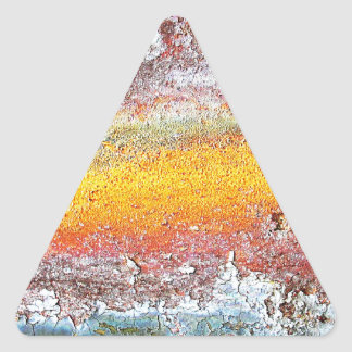 Abstract Metal Rusty Antique Junk Style Fashion Ar Triangle Sticker