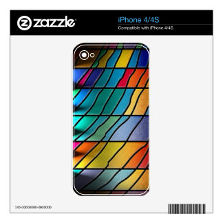 Abstract Metal Sheet rainbow Rusty Antique Junk St iPhone 4 Skins