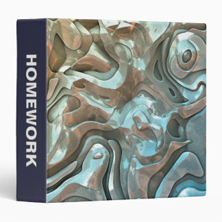 Abstract Metallic Layers 3 Ring Binder