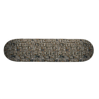 Abstract Metallic Structure Skateboard