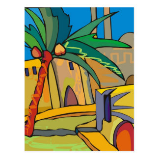 abstract mexico town postcard