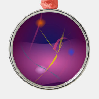 Abstract Microorganism Purple Brown Christmas Ornaments