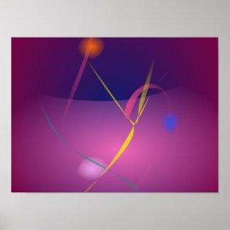 Abstract Microorganism Purple Brown Print